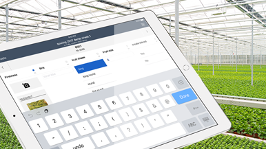 Tablet data registartion agriculture software